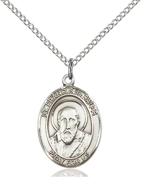 Sterling Silver St. Francis De Sales Pendant