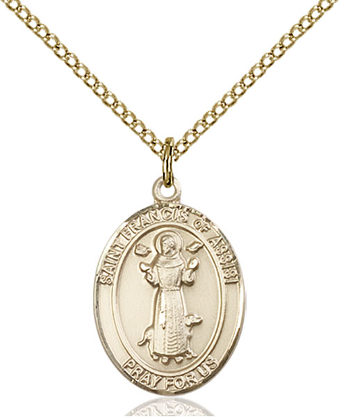 Gold-Filled St. Francis of Assisi Pendant