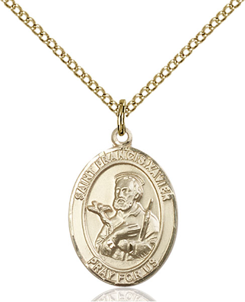 Gold-Filled St. Francis Xavier Pendant