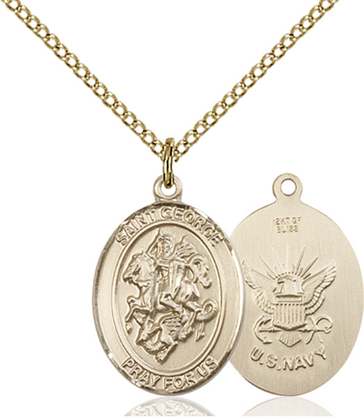 Gold-Filled St. George Navy Pendant