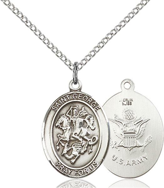 Sterling Silver St. George Army Pendant