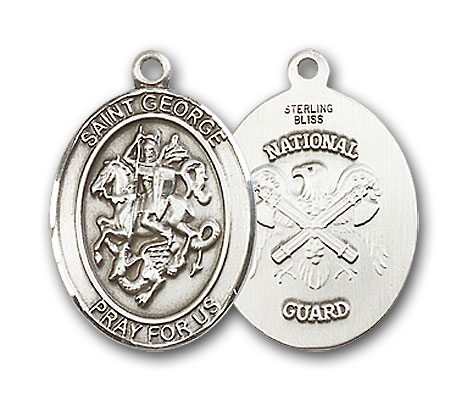 Sterling Silver St. George National Guard Pendant