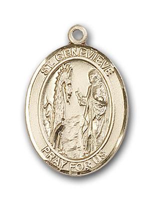 14K Gold St. Genevieve Pendant