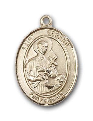 14K Gold St. Gerard Majella Pendant