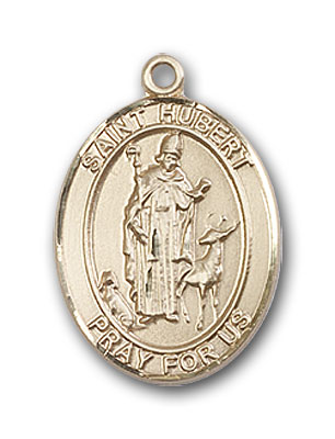 14K Gold St. Hubert of Liege Pendant