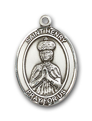 Sterling Silver St. Henry II Pendant