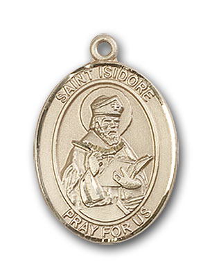 14K Gold St. Isidore of Seville Pendant