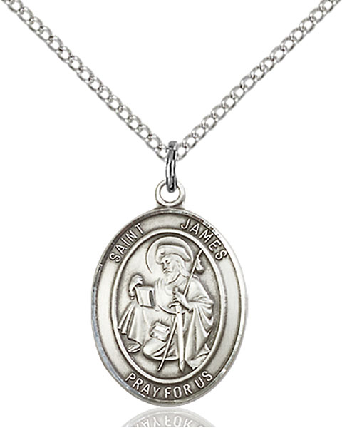 Sterling Silver St. James the Greater Pendant