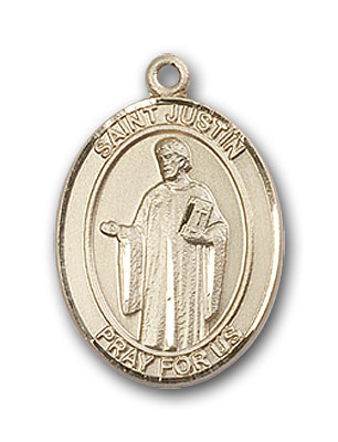 Gold-Filled St. Justin Pendant