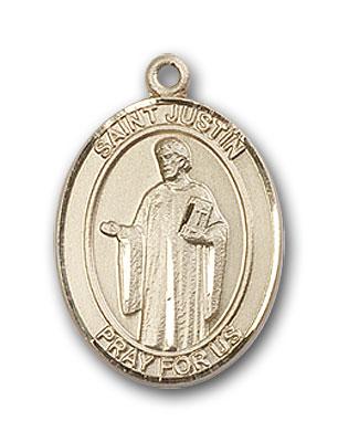 14K Gold St. Justin Pendant