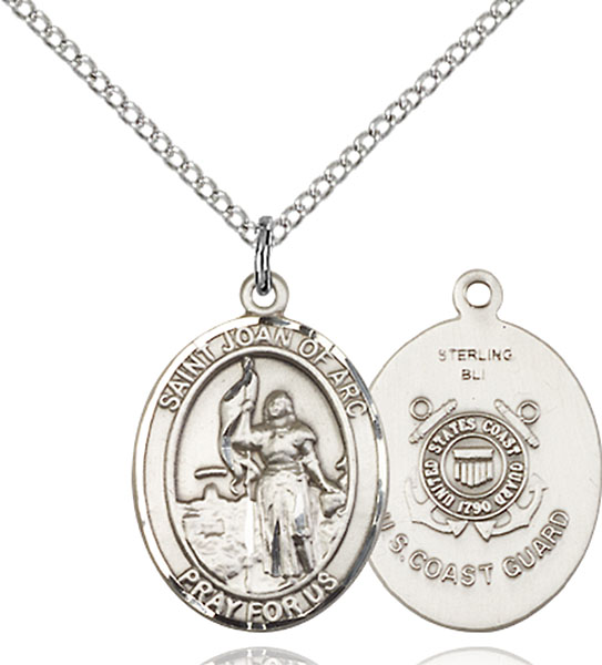 Sterling Silver St. Joan of ArcCoast Guard Penda