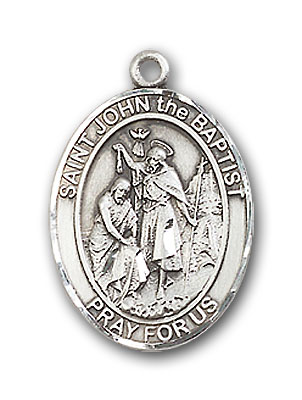 Sterling Silver St. John the Baptist Pendant