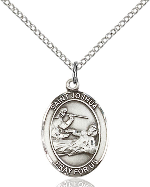 Sterling Silver St. Joshua Pendant