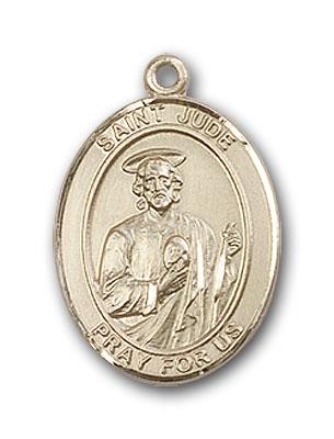 14K Gold St. Jude Thaddeus Pendant
