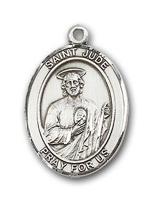 Sterling Silver St. Jude Thaddeus Pendant