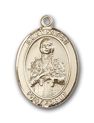 14K Gold St. Kateri Pendant