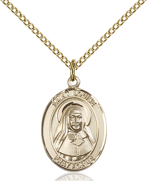 Gold-Filled St. Louise De Marillac Pendant