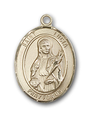 Gold-Filled St. Lucia of Syracuse Pendant