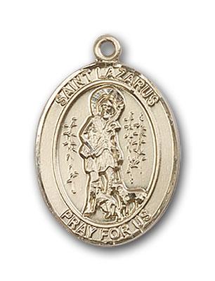 14K Gold St. Lazarus Pendant