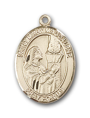 14K Gold St. Mary Magdalene Pendant