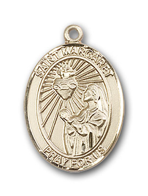 14K Gold St. Margaret Mary Alacoque Pendant