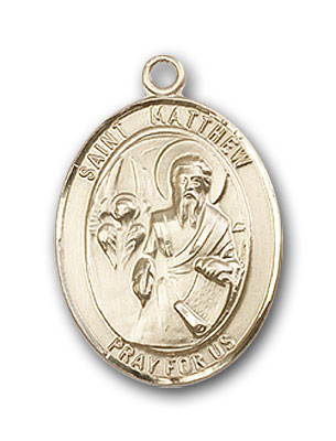 14K Gold St. Matthew the Apostle Pendant
