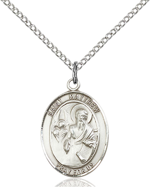 Sterling Silver St. Matthew the Apostle Pendant