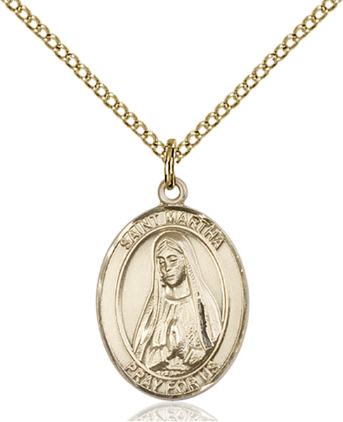 Gold-Filled St. Martha Pendant