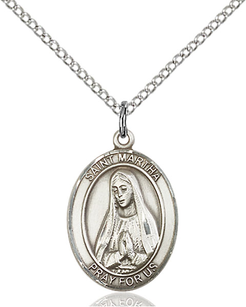 Sterling Silver St. Martha Pendant