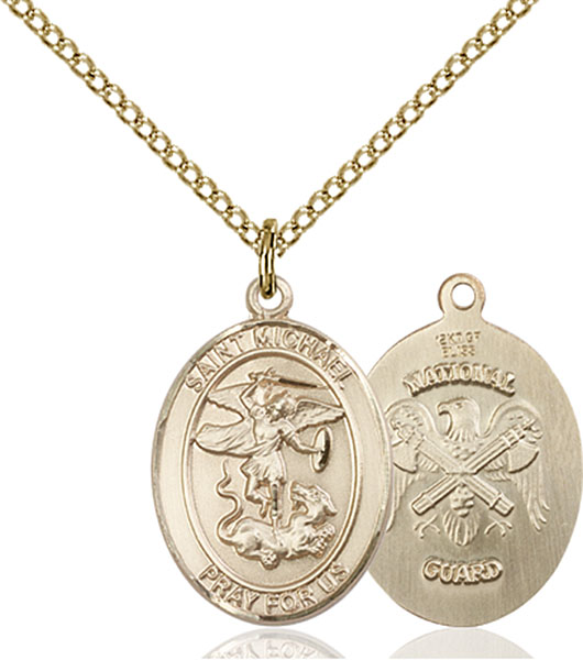 Gold-Filled St. Michael National Guard Pendant
