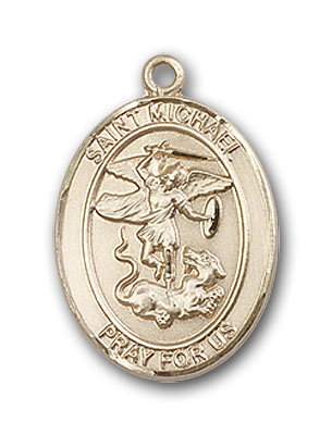 14K Gold St. Michael the Archangel Pendant