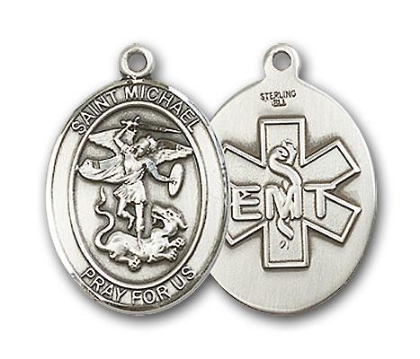 Sterling Silver St. Michael Emt Pendant