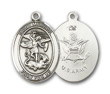 Sterling Silver St. Michael Army Pendant