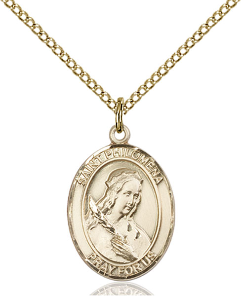 Gold-Filled St. Philomena Pendant