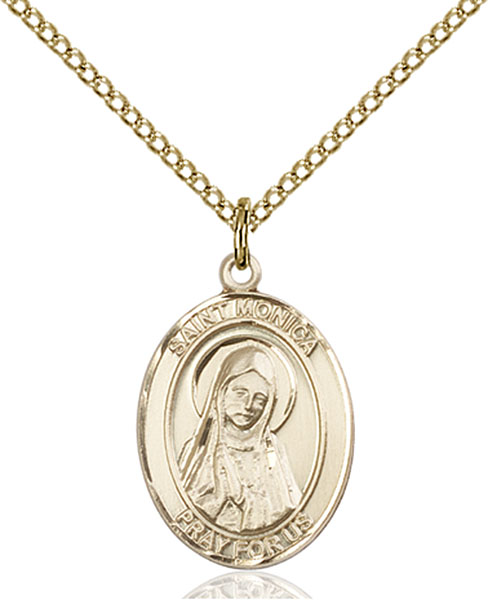 Gold-Filled St. Monica Pendant