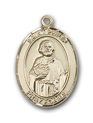14K Gold St. Philip Neri Pendant