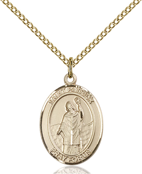 Gold-Filled St. Patrick Pendant