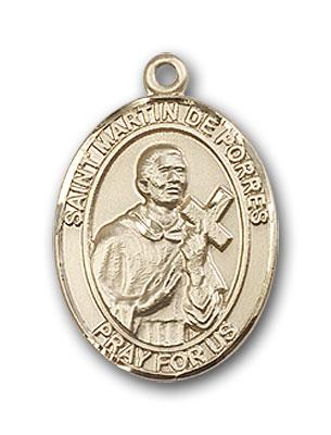 14K Gold St. Martin De Porres Pendant