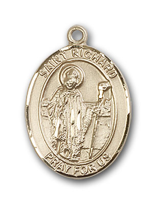 14K Gold St. Richard Pendant
