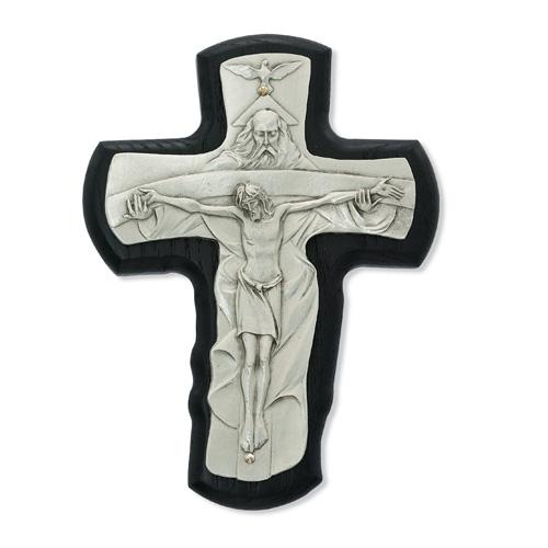 "5 1/2"" Black Trinity Crucifix"