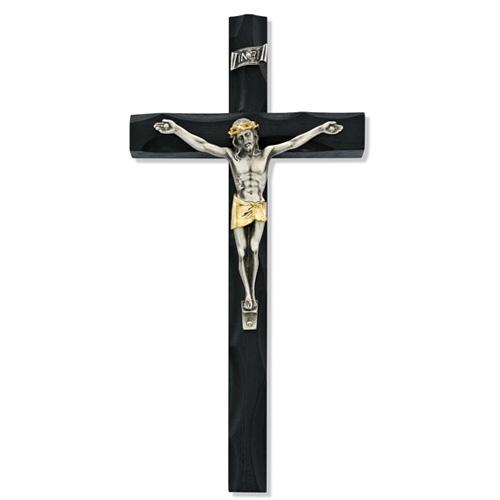 "10"" Two Tone Black Crucifix"