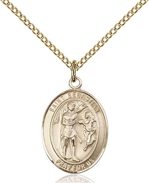 Gold-Filled St. Sebastian Pendant
