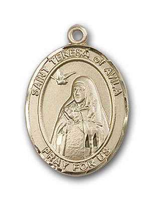 Gold-Filled St. Teresa of Avila Pendant