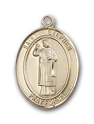 14K Gold St. Stephen the Martyr Pendant