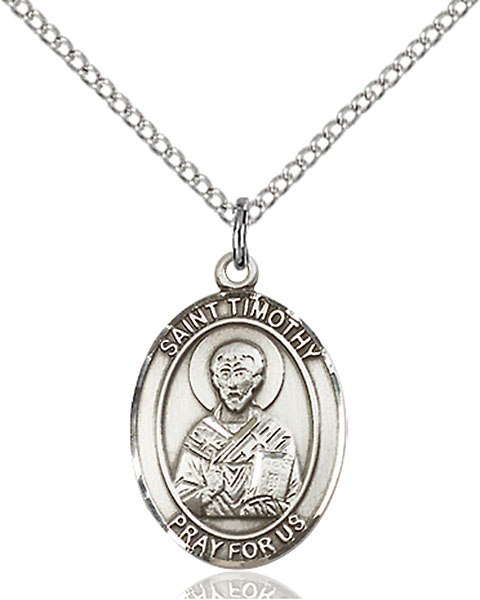 Sterling Silver St. Timothy Pendant