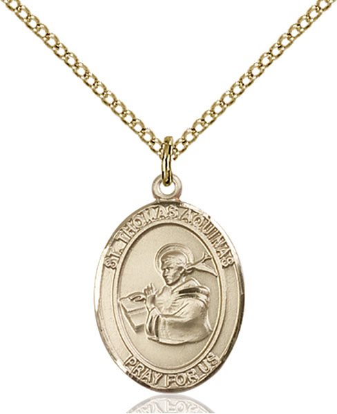 Gold-Filled St. Thomas Aquinas Pendant