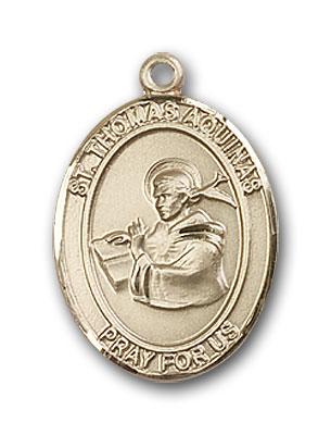 14K Gold St. Thomas Aquinas Pendant