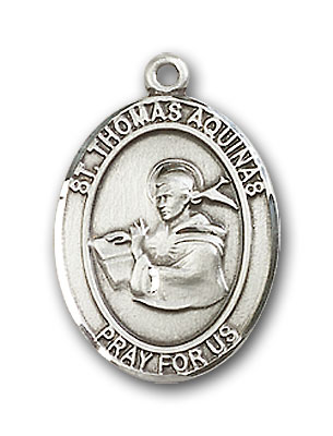 Sterling Silver St. Thomas Aquinas Pendant