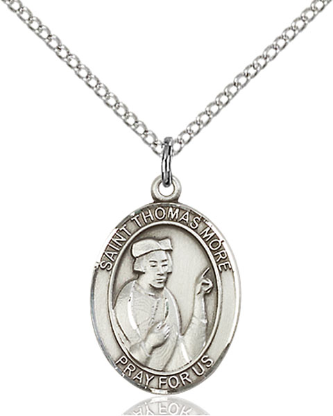 Sterling Silver St. Thomas More Pendant