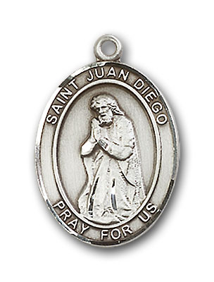 Sterling Silver St. Juan Diego Pendant